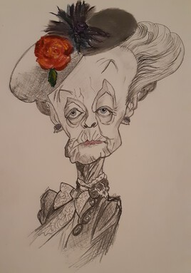 Caricature de Maggie Smith