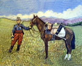 CHASSEUR D' AFRIQUE 1914