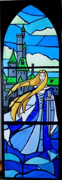 Une Dame du Lac façon vitrail