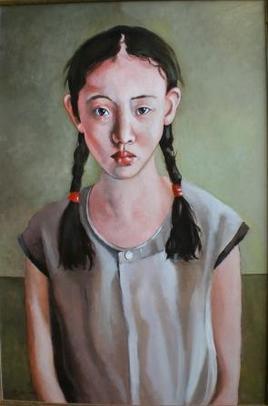 ritratto di cinesina con trecce