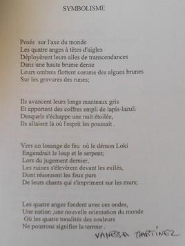 SYMBOLISME poésie de Vanessa Martinez 1993