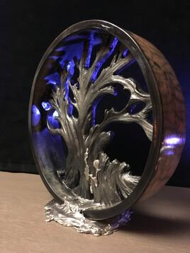 L'arbre de vie raku et antimoine