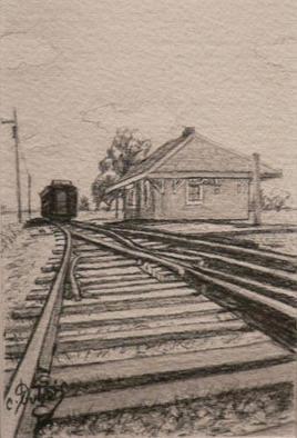 用Claude Dubois(线蒙特利尔芝加哥)画铅笔  , drawing in pencil by Claude Dubois (line Montreal Chicago),