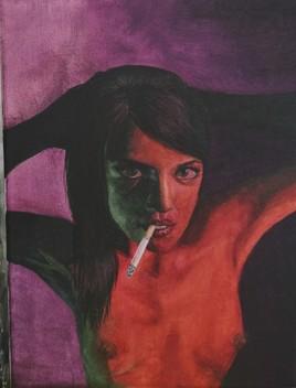 Anna with Cigarette