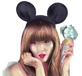 Hyuna-digital painting