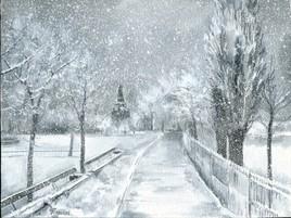 """""""St. Vladimir"""" sous la neige"""