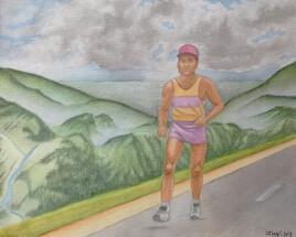 - Le marathonien - (aquarelle)