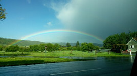 entre pluie et beau temps