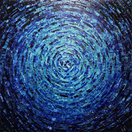 Éclat de couleur bleu