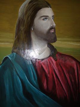 tableau peinture religieuse jésus christ