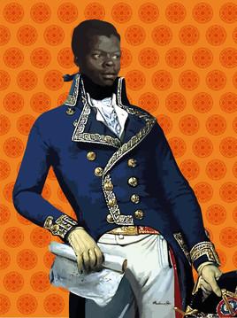 Portrait de Toussaint l'ouverture  pop art