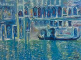 Palais de Mula Morosina (d'après Claude Monet)