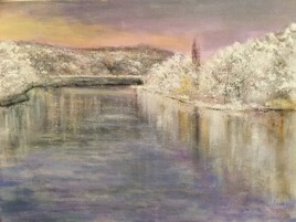 Bords de Seine enneigés