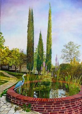 """Un coin de jardin"" 78x56"