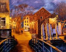 Soir d'hiver à Collioure
