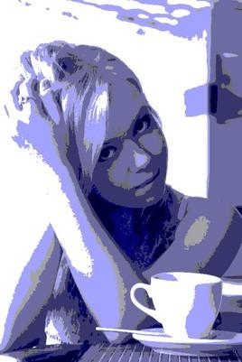 jeune fille bleu
