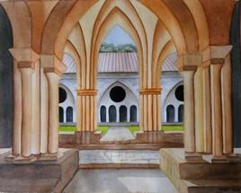 - Abbaye Wicca - (aquarelle)