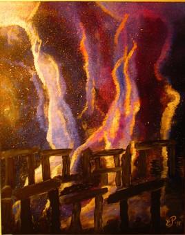Nebula over Stonehenge