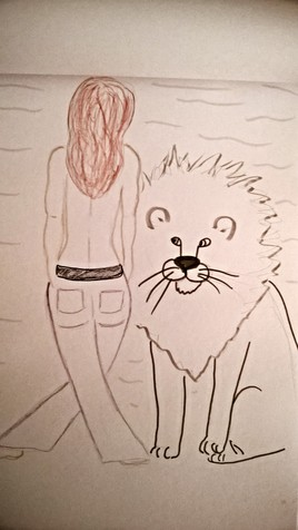 Elle et son lion