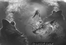 création image sur le thème des loups