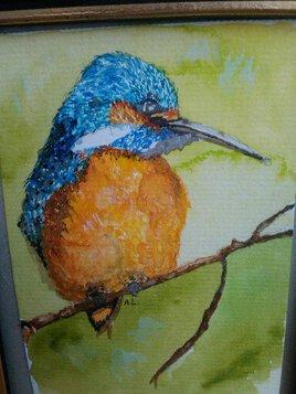 Martin-pêcheur à l'aquarelle