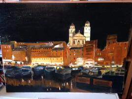Vieux port  BASTIA  la  nuit