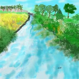 la rivière bleu