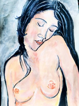 Nu assis d'ap. Amadeo Modigliani
