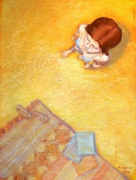 Autoportrait au tapis