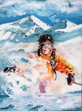 Skieur au Puy Mary