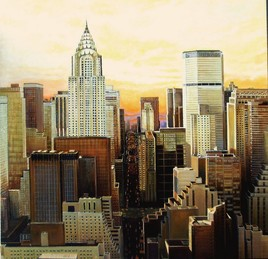 Peinture New York  paysage urbain