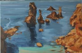 Rochers à  Belle Isle- Aiguilles de Port Coton
