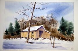 cabane en hivers