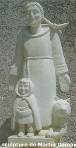 Sculpture saint françois d'assise