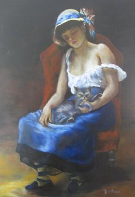 Repro Renoir Jeune fille au chat