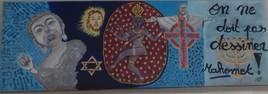 Ma 6ème peinture - RELIGIONS 40 x 120 cm