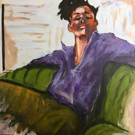 reproduction d une toile de David  Jamin - dilettante