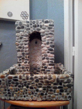 Fontaine en galets fait maison