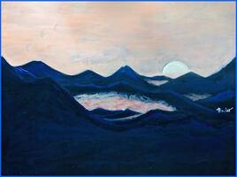 Coucher de soleil en montagne / Painting Sunrise in the mountains