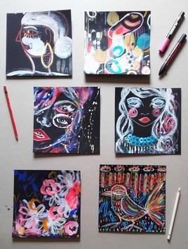 Série de petites peintures