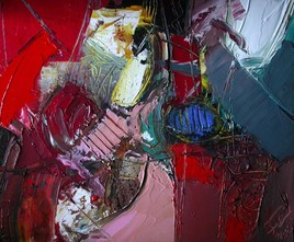 Abstraction en rouge