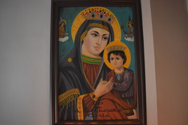 tableau peinture  vierge marie