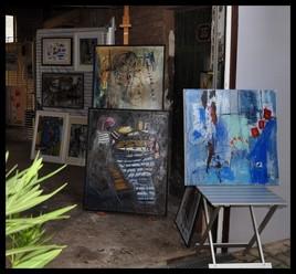 ma première expo depuis 5 ans  (jardin des Arts)