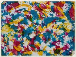 Craquelures colorées