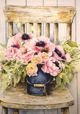 La chaise fleurie