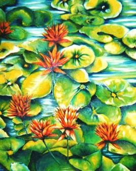 (fleurs d'eau)