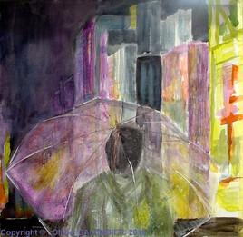 Contemplation devant les lumières de la ville