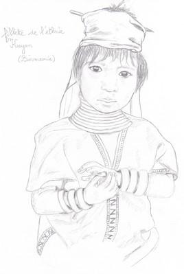 Fillette Birmane