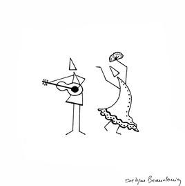 Danceuse et guitare