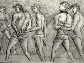 men cuffed